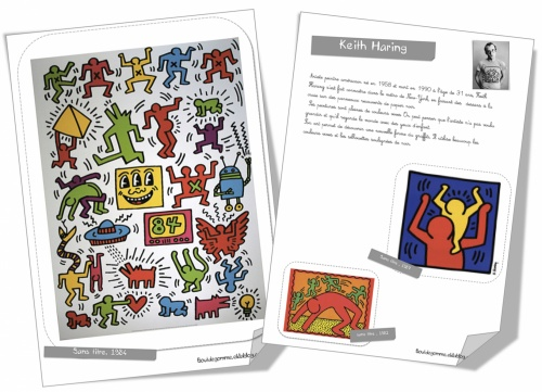 Fabulous Fiche artiste : Keith Haring | Bout de Gomme JO89