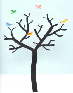 Coloriage Arbre En Hiver.L Arbre Et L Hiver De Melissa Pigois Bout De Gomme