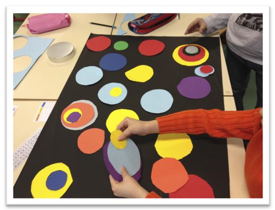 Arts plastiques autour de la galette avec warhol et delaunay bout de gomme - Coloriage delaunay ...