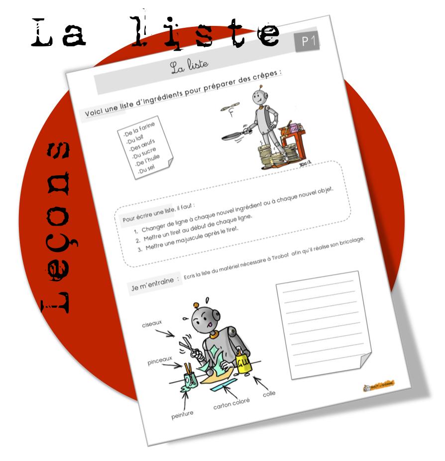 Production D'écrits : Leçon Sur La Liste