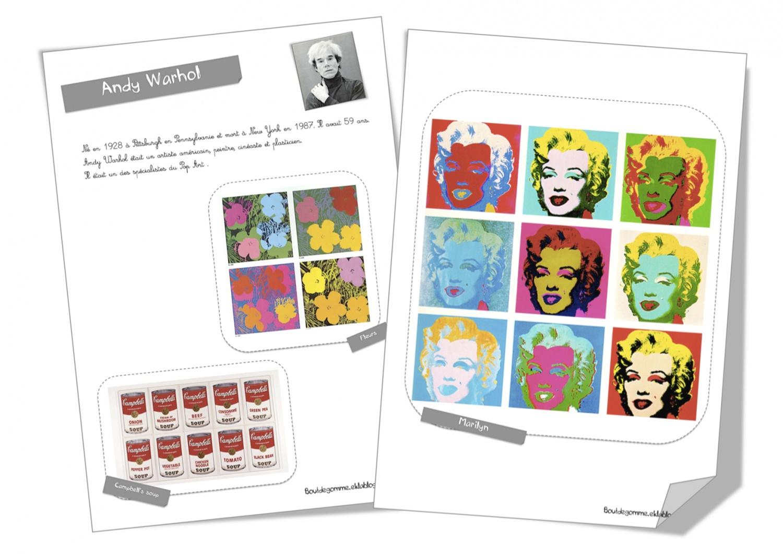 Top Fiche artiste :Andy Warhol | Bout de Gomme CW25