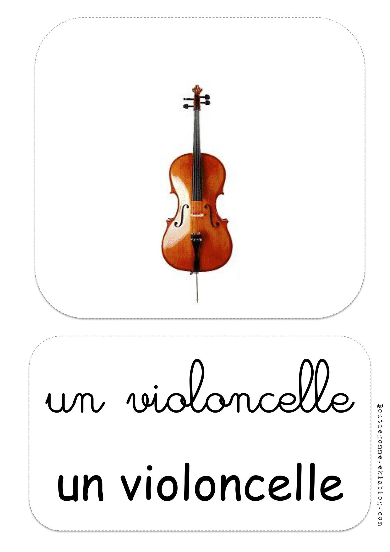 Favori Les instruments de musique : exercices | Bout de Gomme OR86