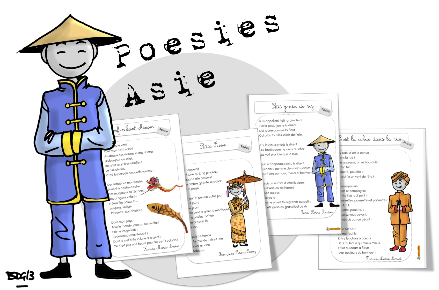 Coloriage Chine Cp.Poesies L Asie Bout De Gomme