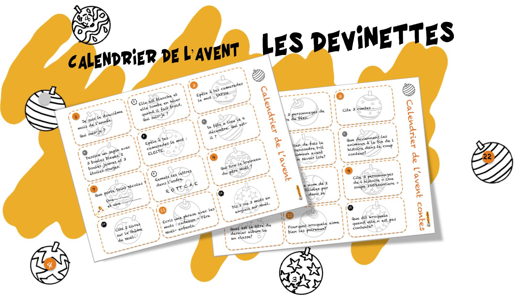 Message Pour Calendrier De L Avent.Calendrier De L Avent Pour La Classe Bout De Gomme