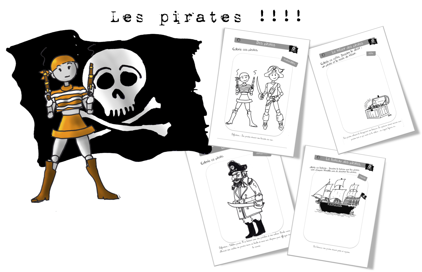 Coloriage Magique Cp Pirate.Coloriages Anticoloriages Les Pirates Bout De Gomme