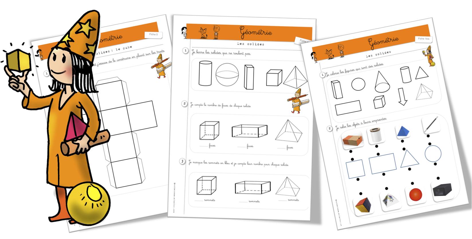 Maths : exercices : les solides | Bout de Gomme