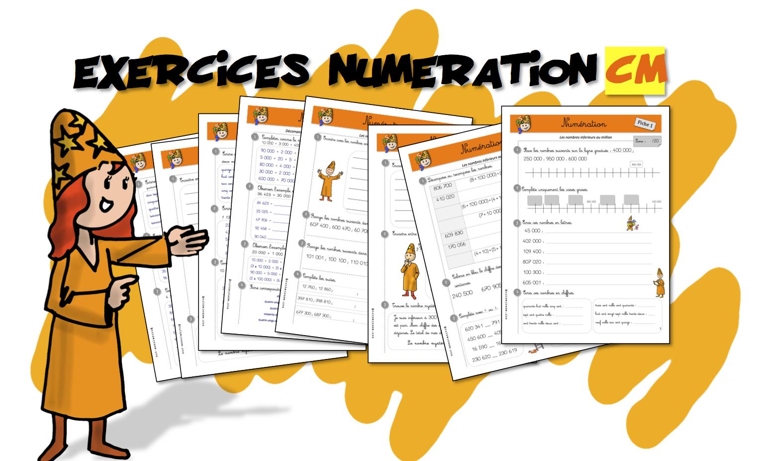 Cm Exercices De Numeration Bout De Gomme
