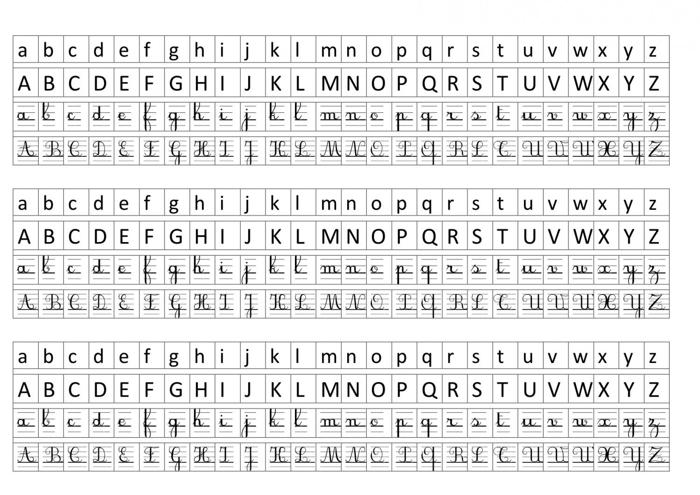 alphabet affichage