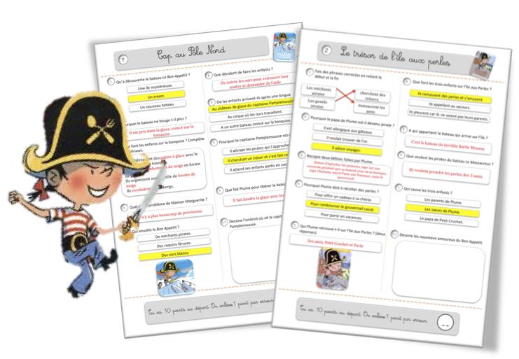 Exceptionnel Rallye lecture CE1-CE2 : Plume le pirate | Bout de Gomme QZ73