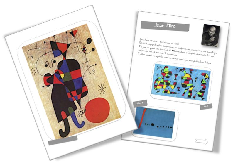 Super Fiche artiste : Joan Miro | Bout de Gomme WT34