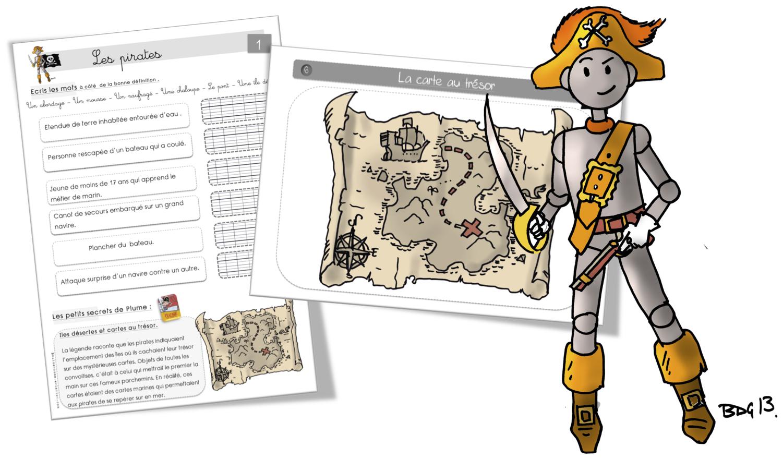 Carte Au Tresor Ce1.Les Pirates Bout De Gomme