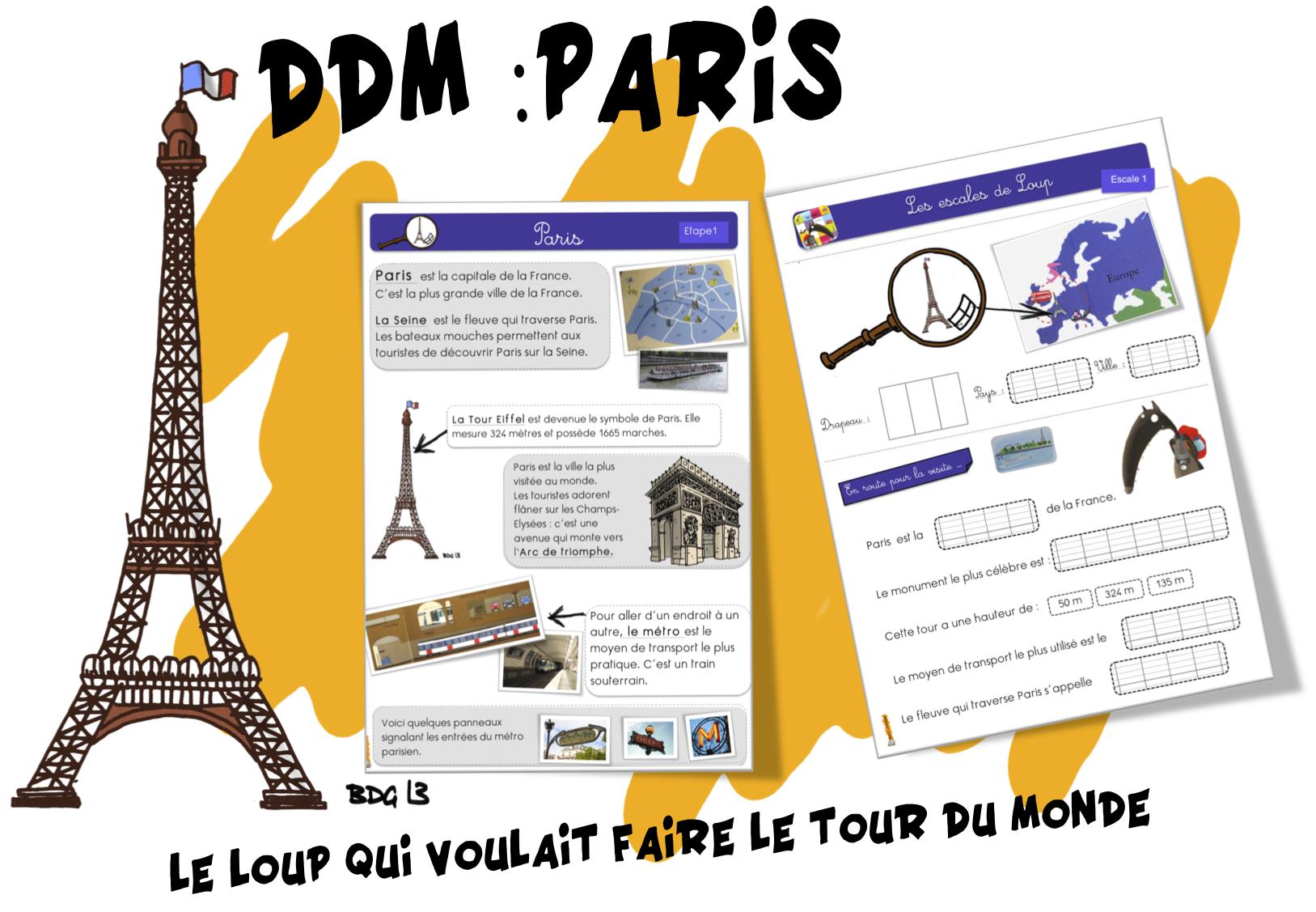 Ddm Paris Et Le Loup Qui Voulait Faire Le Tour Du Monde Bout De Gomme