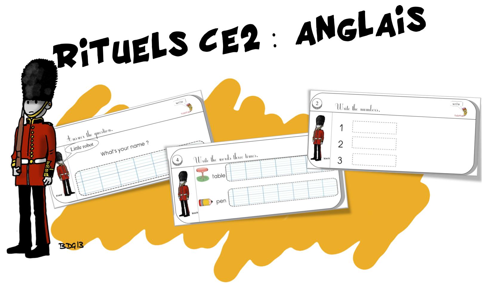 Top Rituels CE2 : Anglais | Bout de Gomme QI96