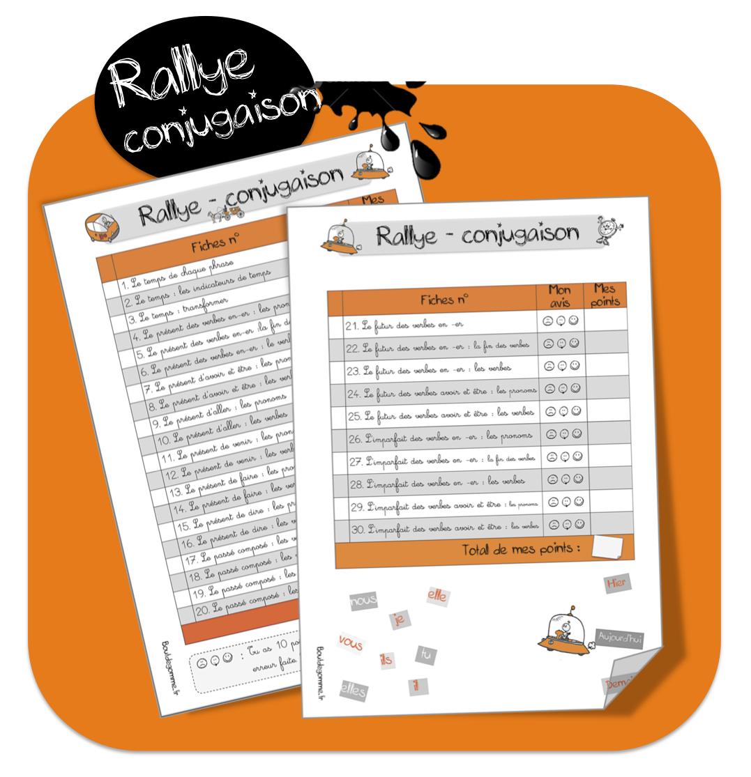 Rallye Conjugaison Bout De Gomme