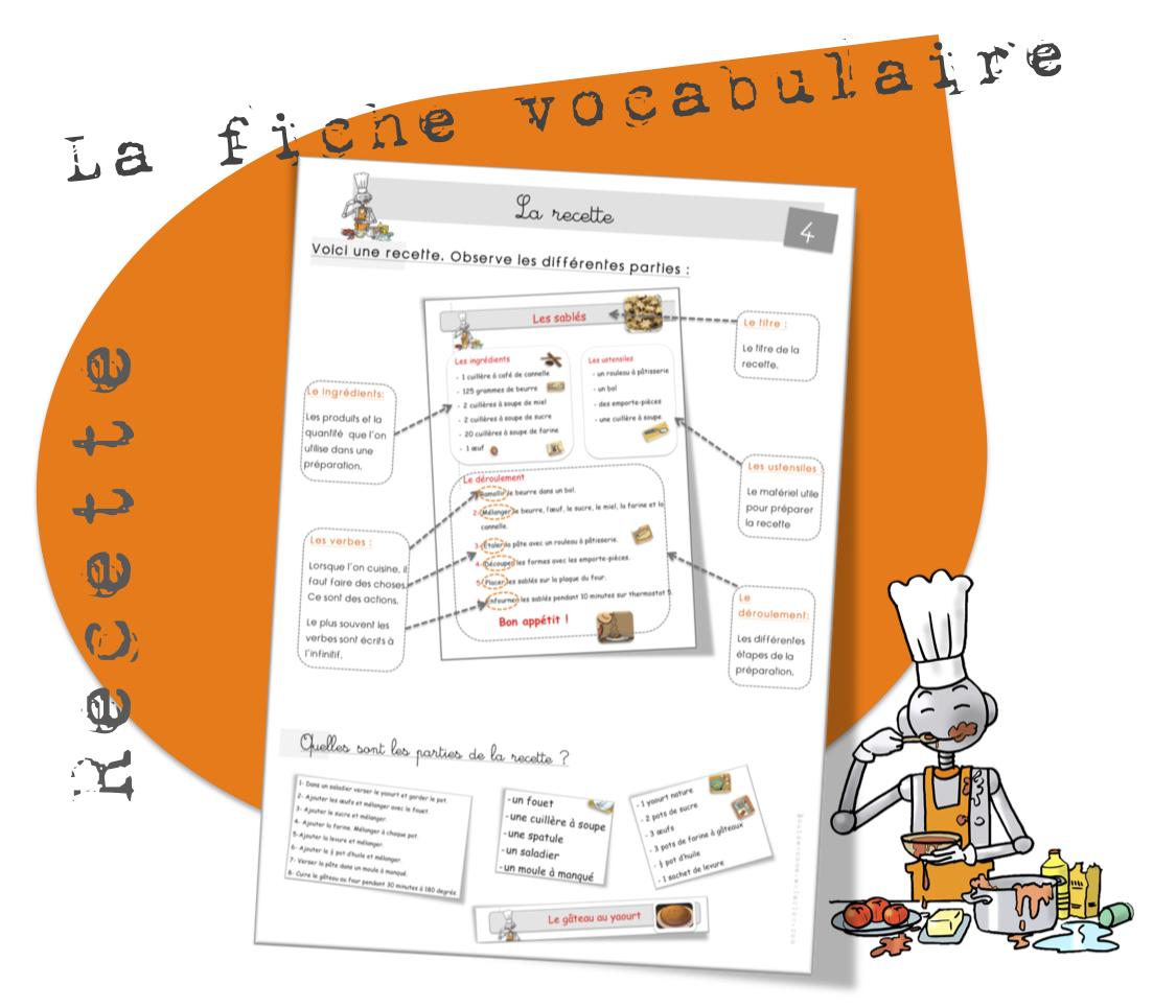 Vocabulaire La Recette Bout De Gomme