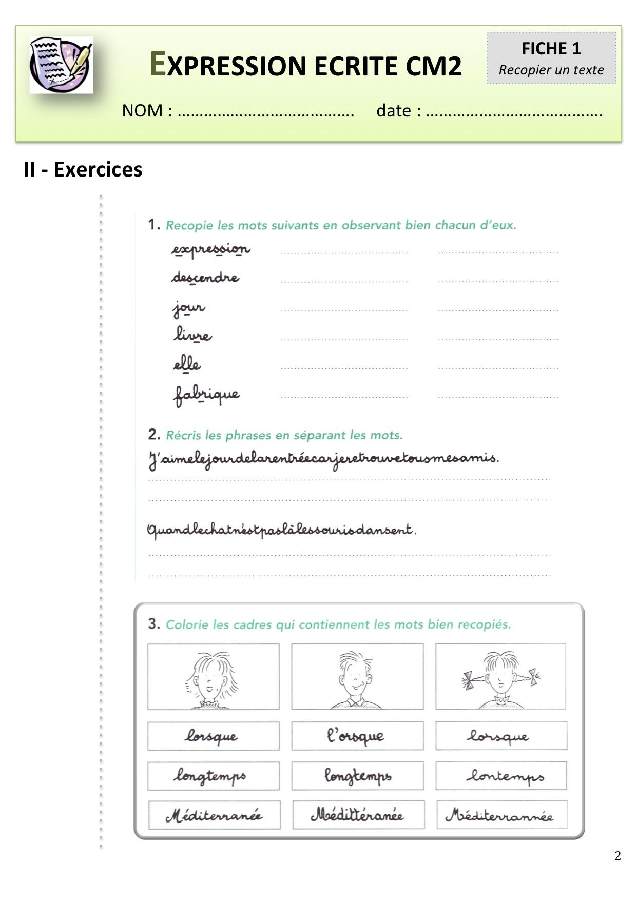 Expression crite cm1 cm2 bout de gomme - Grille evaluation expression ecrite anglais ...