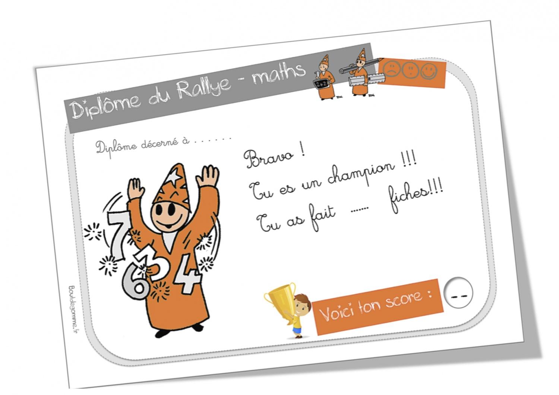 Connu Rallye-maths ( 1 étoile et 2 étoiles) | Bout de Gomme FS68