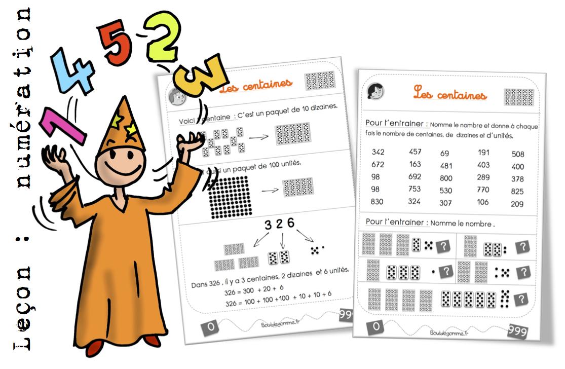 Lecon Maths Les Centaines Bout De Gomme