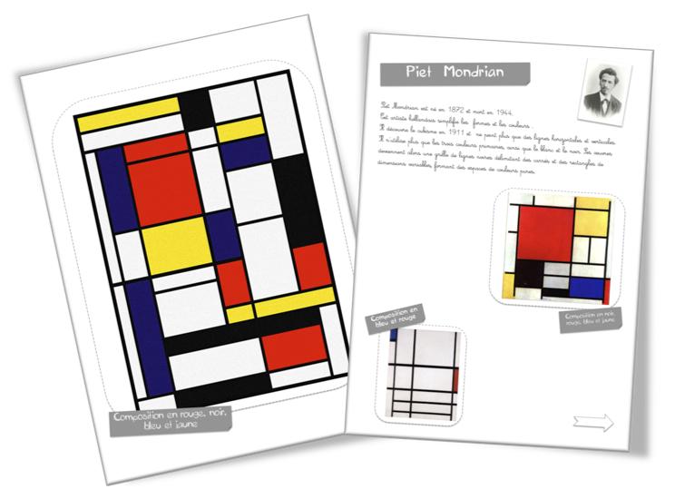 Berühmt Fiche artiste : Piet Mondrian | Bout de Gomme HF56