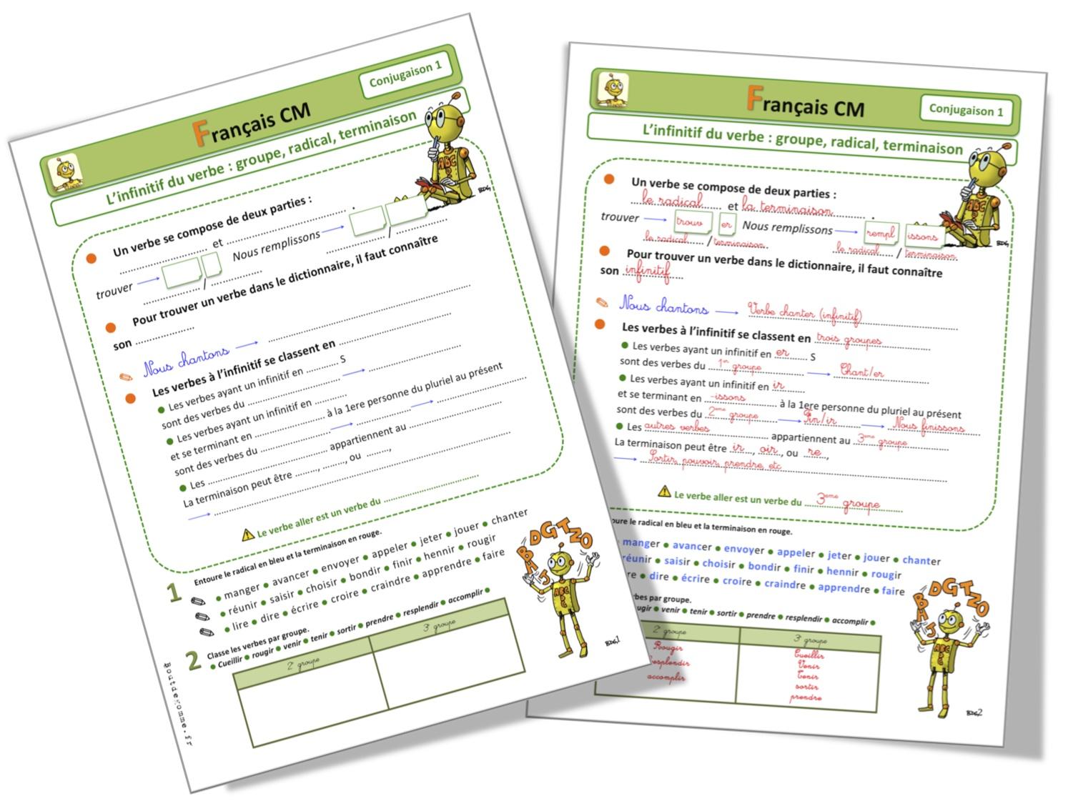 Lecons Vocabulaire Cm2 Bout De Gomme