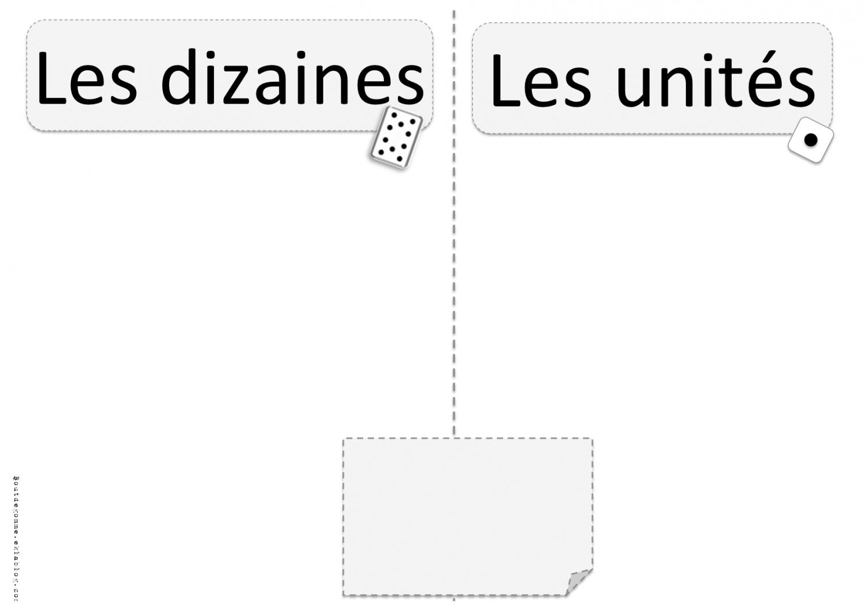 Affichage Dizaines Et Unites Cp Et Ce1 Bout De Gomme