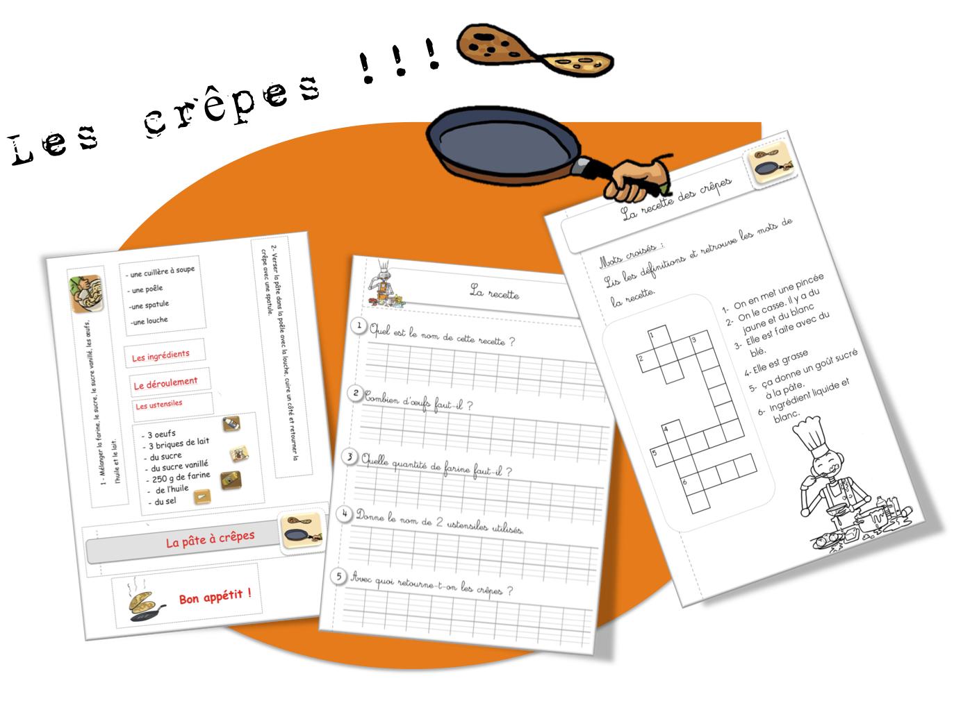 Sehr Recettes de cuisine pour la classe | Bout de Gomme HM52