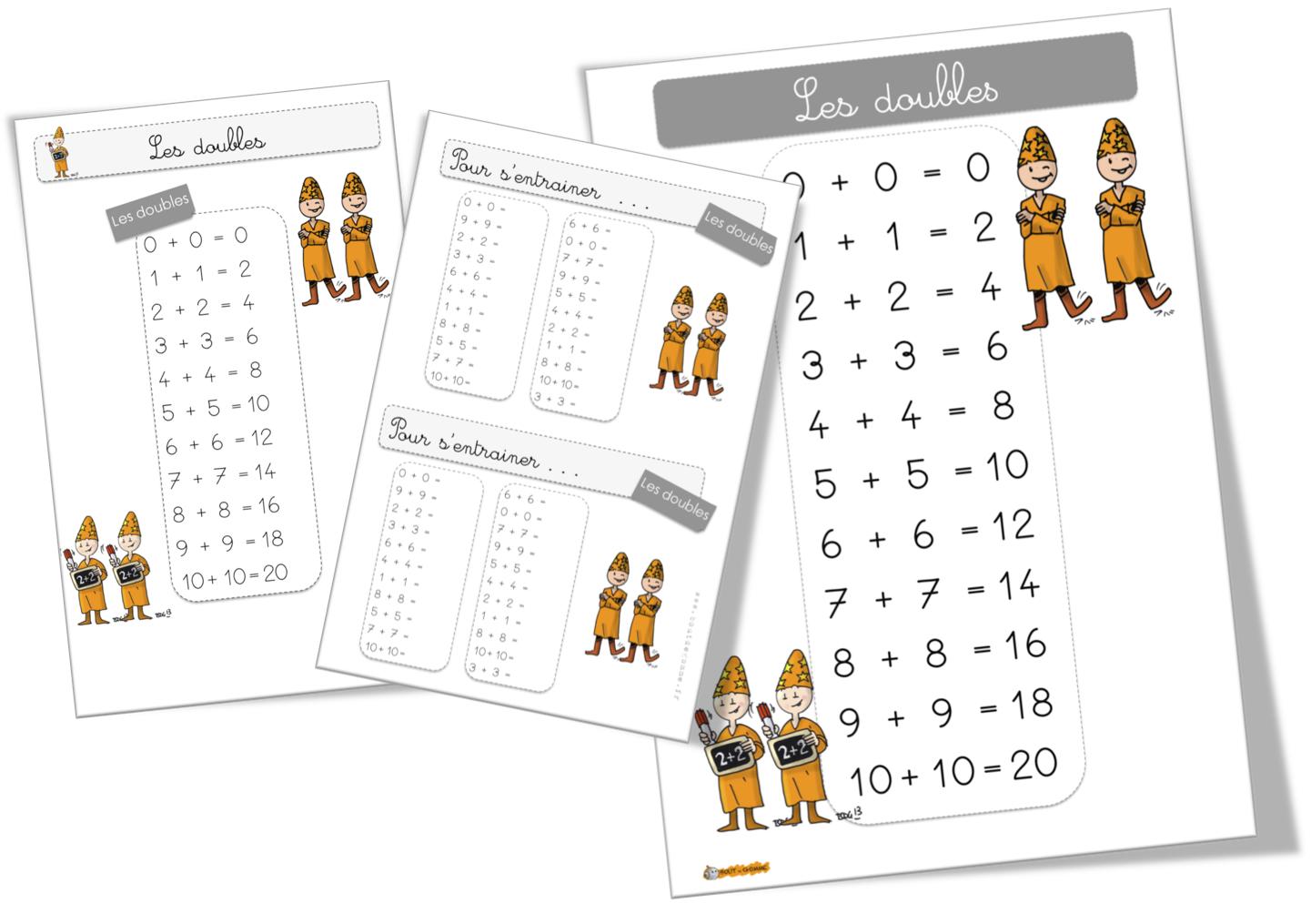 Bien-aimé Maths : Les doubles | Bout de Gomme EJ21