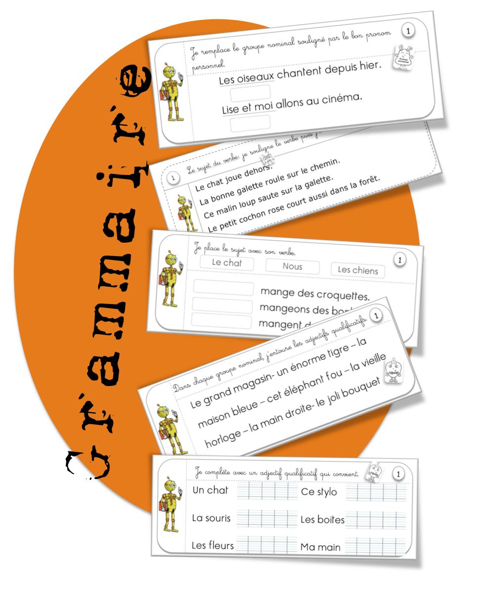 Rituels -grammaire : adjectifs, pronoms , sujet du verbe ...
