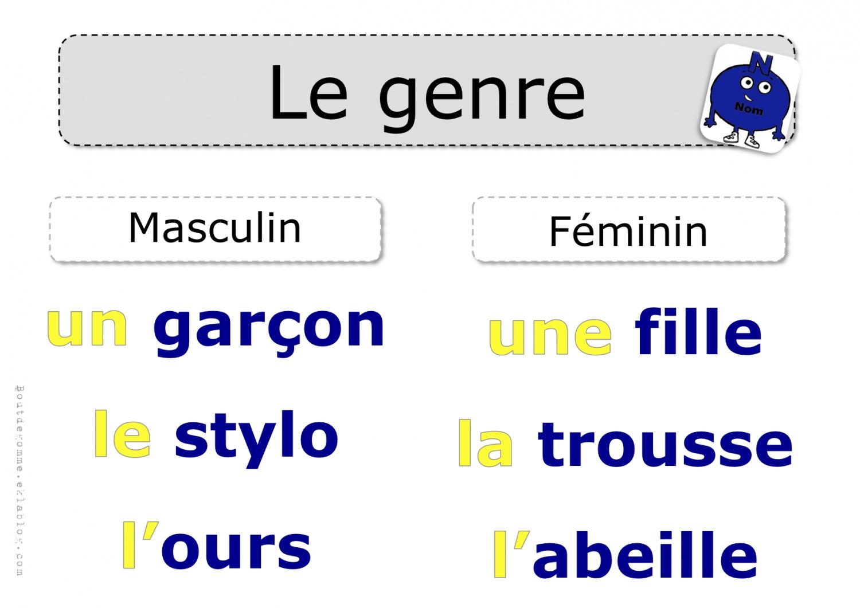 nom féminin français
