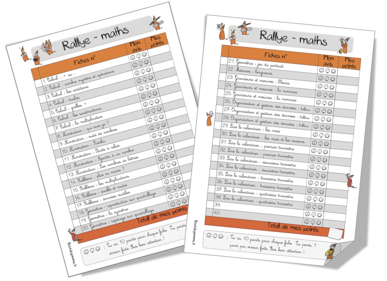 Souvent Rallye-maths ( 1 étoile et 2 étoiles) | Bout de Gomme TM05