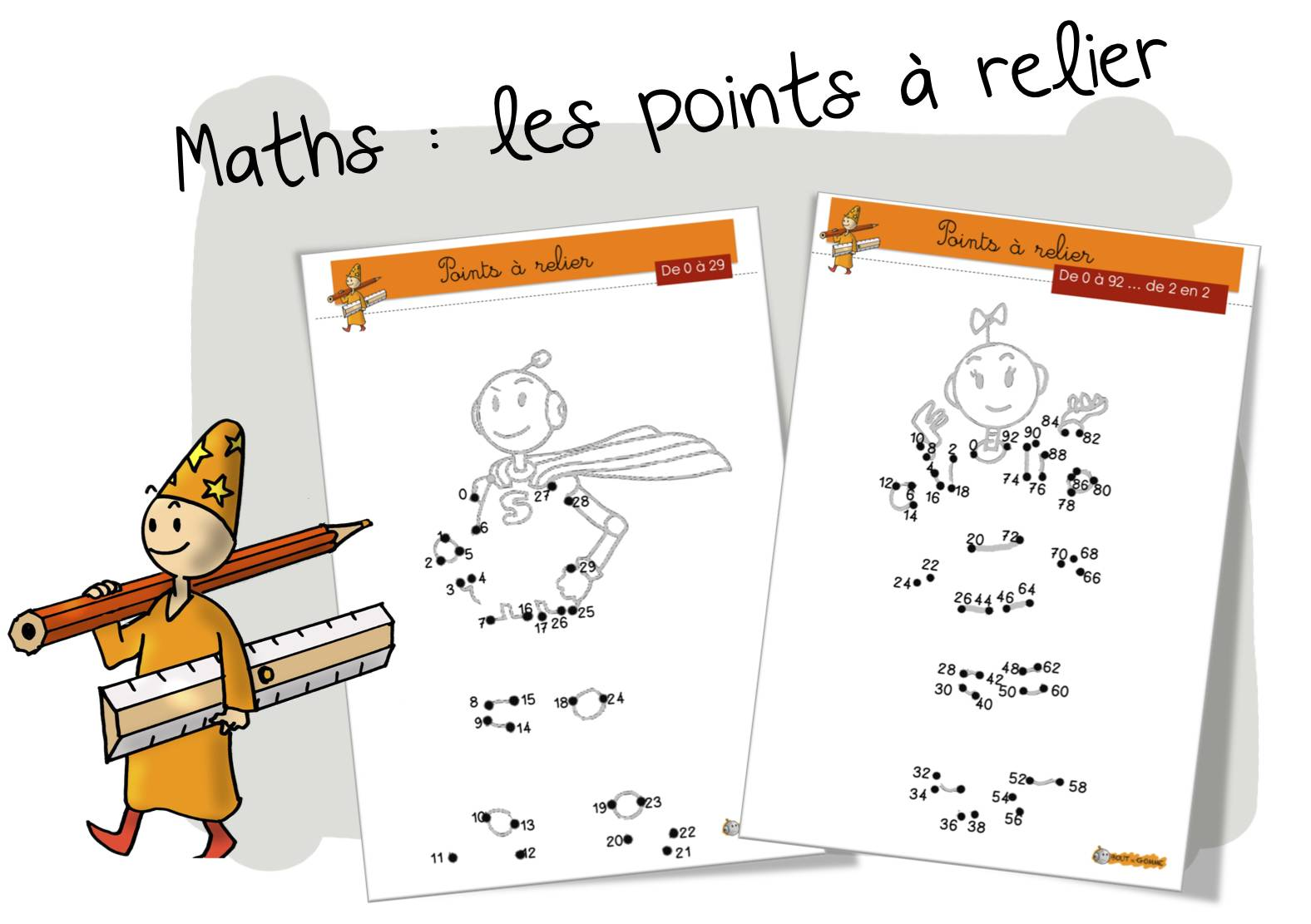 Maths Les Points à Relier De 0 à 99 Bout De Gomme