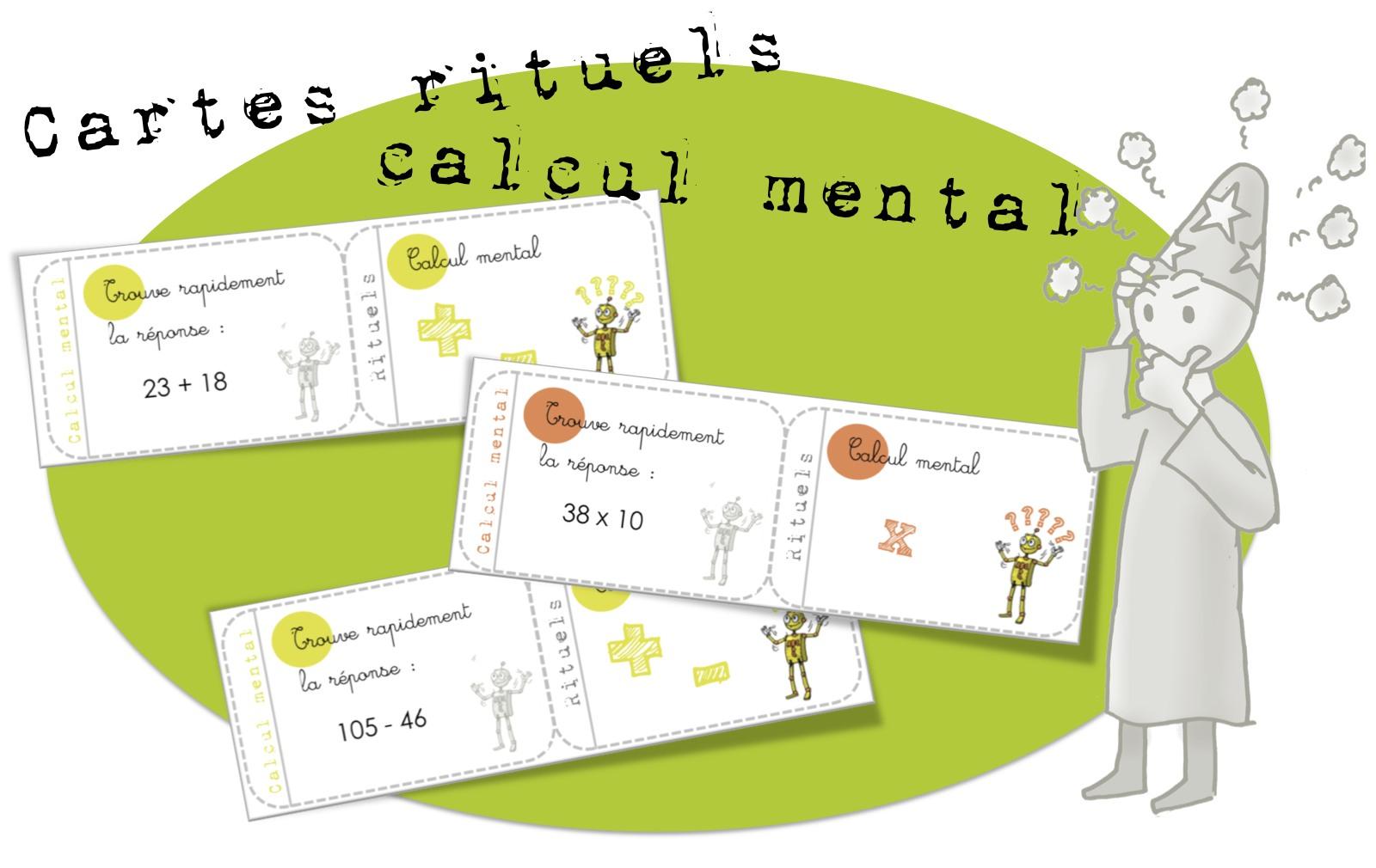 Bien-aimé Cartes rituels-Calcul mental : addition, multiplication  EJ21