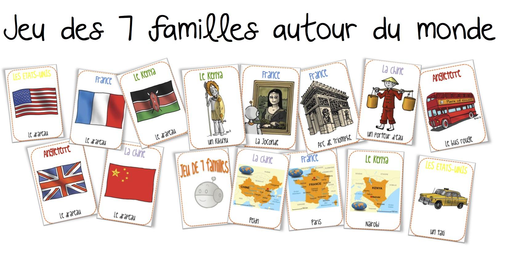 Bien-aimé Le jeu des 7 familles autour du monde | Bout de Gomme ZB06
