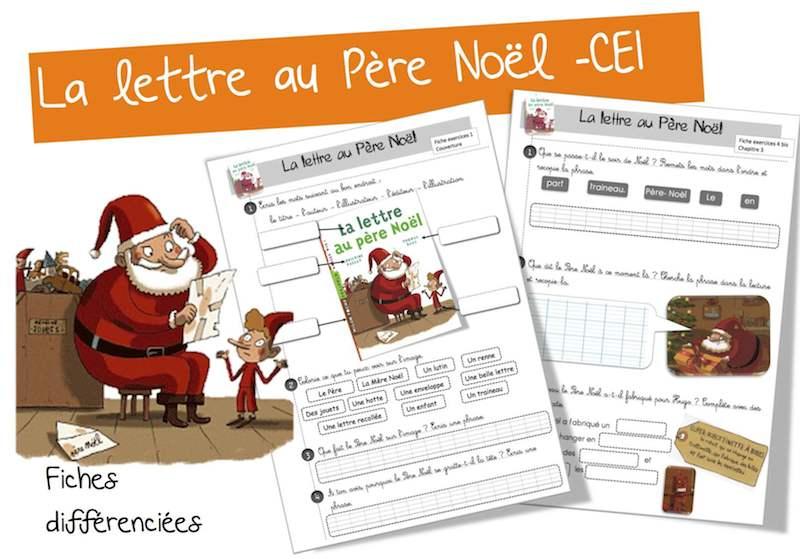 Une Lettre De Pere Noel.La Lettre Au Pere Noel Lecture Suivie Ce1 Bout De Gomme