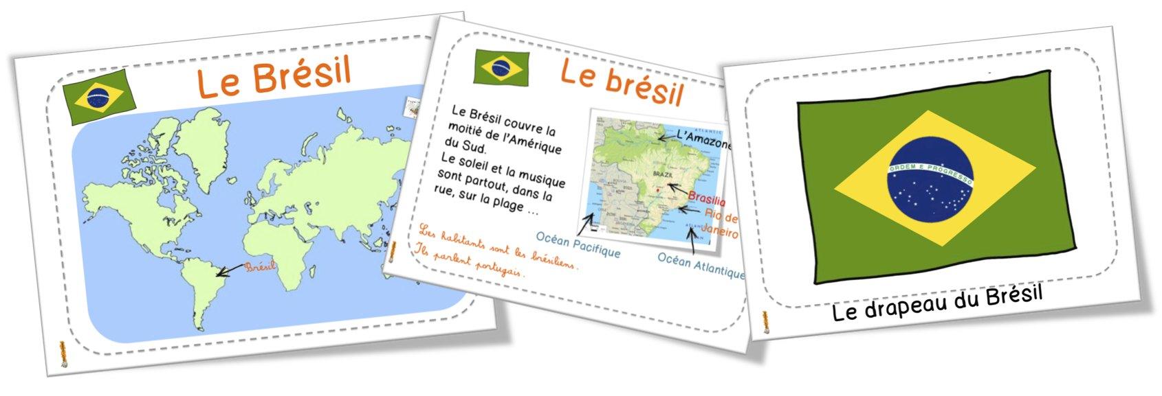 Carte Identite Bresil.Le Bresil Diaporama Et Fiches Ddm Avec Loup Bout De