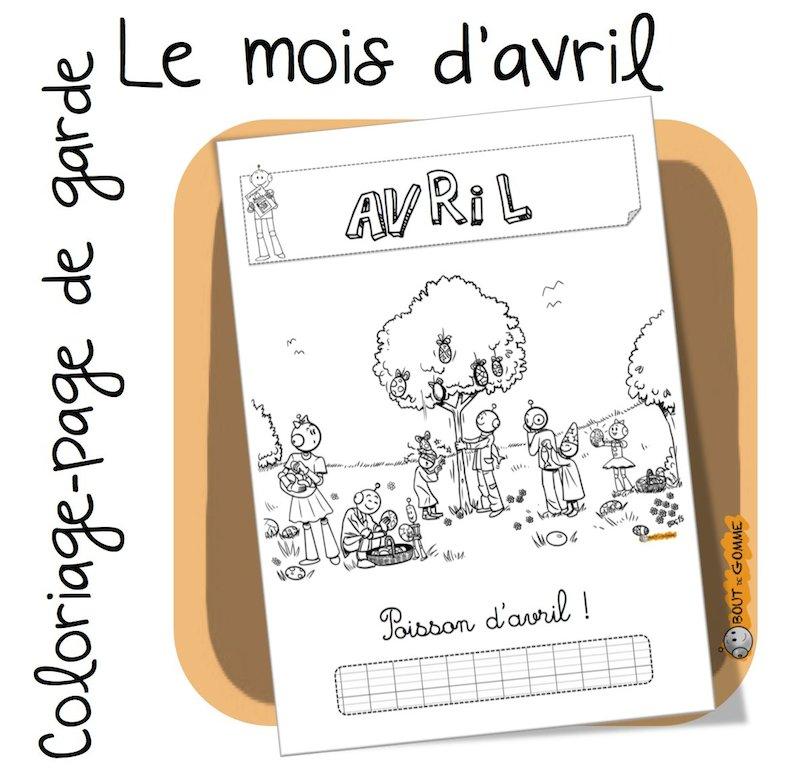 Coloriage Avril Ms.Mois D Avril Coloriage Bout De Gomme