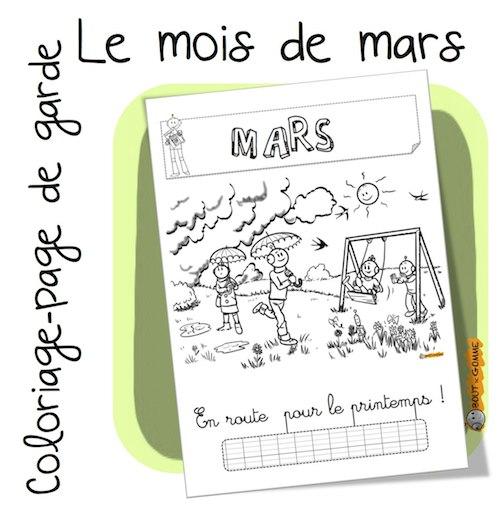 Coloriage Avril Printemps.Mois De Mars Coloriage Bout De Gomme