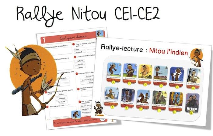 Très Rallye Lecture : Nitou l'indien CE1 – CE2 | Bout de Gomme JH86