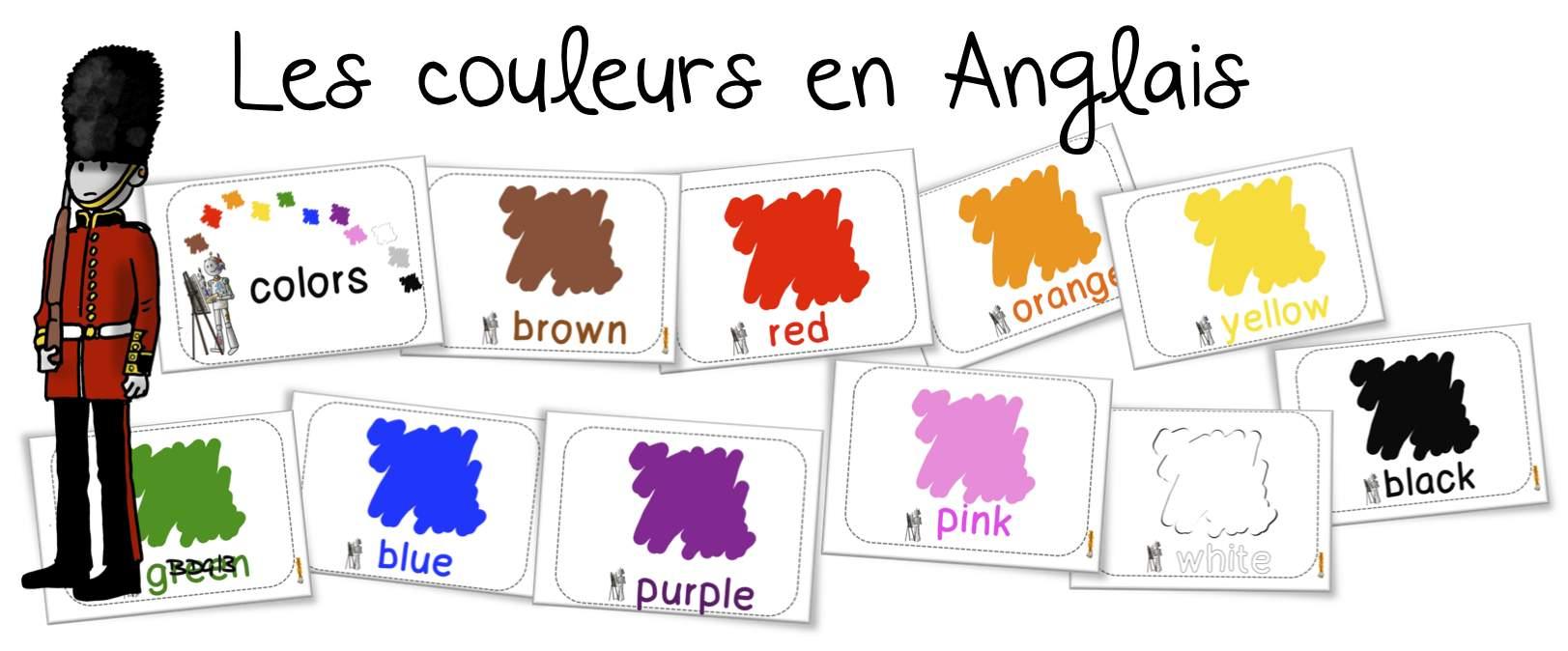 Favori Anglais : les couleurs | Bout de Gomme UK82