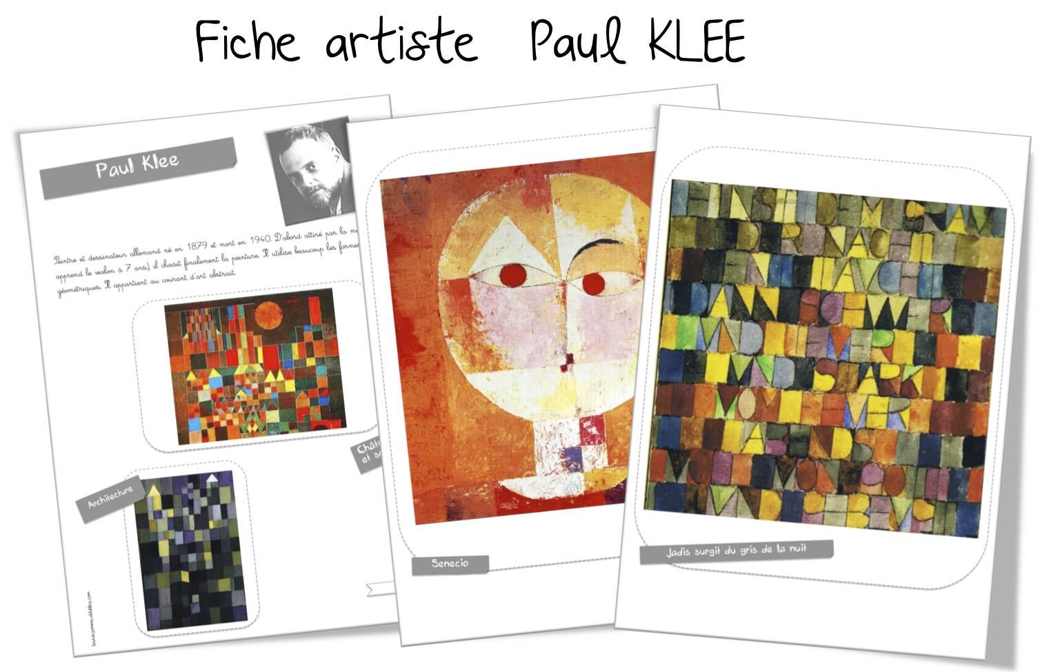 Paul Klee Et L Alphabet