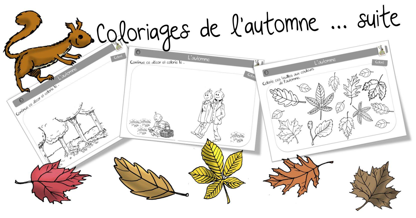 Coloriage Cp Octobre.Coloriages Bdg Sur L Automne Bout De Gomme