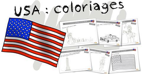 Coloriages Bdg Les Usa Et New York Bout De Gomme