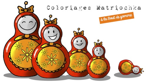 Coloriages matriochka russie bout de gomme - Coloriage russie ...