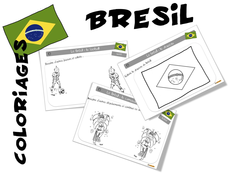 Coloriages Brésil Bdg Bout De Gomme
