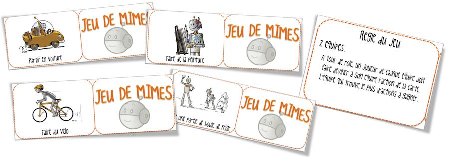 carte jeu de mime a imprimer Jeu de mimes Bout de gomme | Bout de Gomme