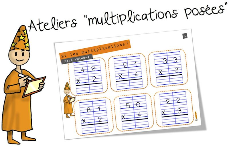 Ateliers la multiplication pos e bout de gomme for Multiplication ce1