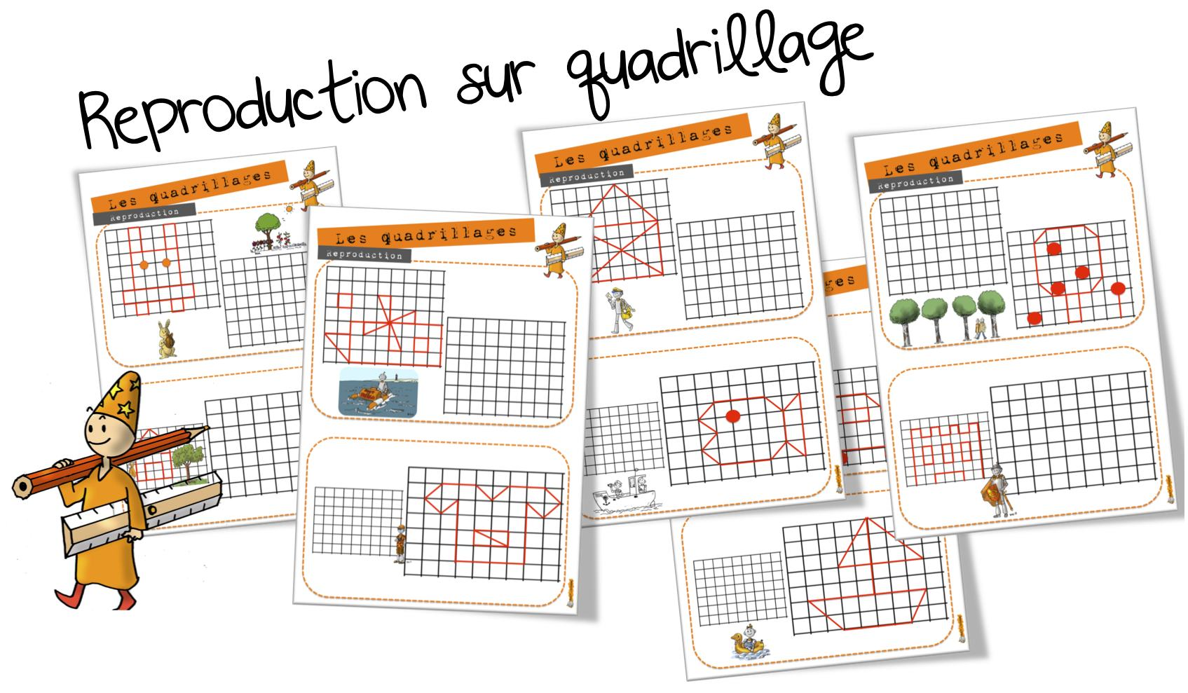 Ateliers Maths Reproduction Sur Quadrillage Bout De Gomme