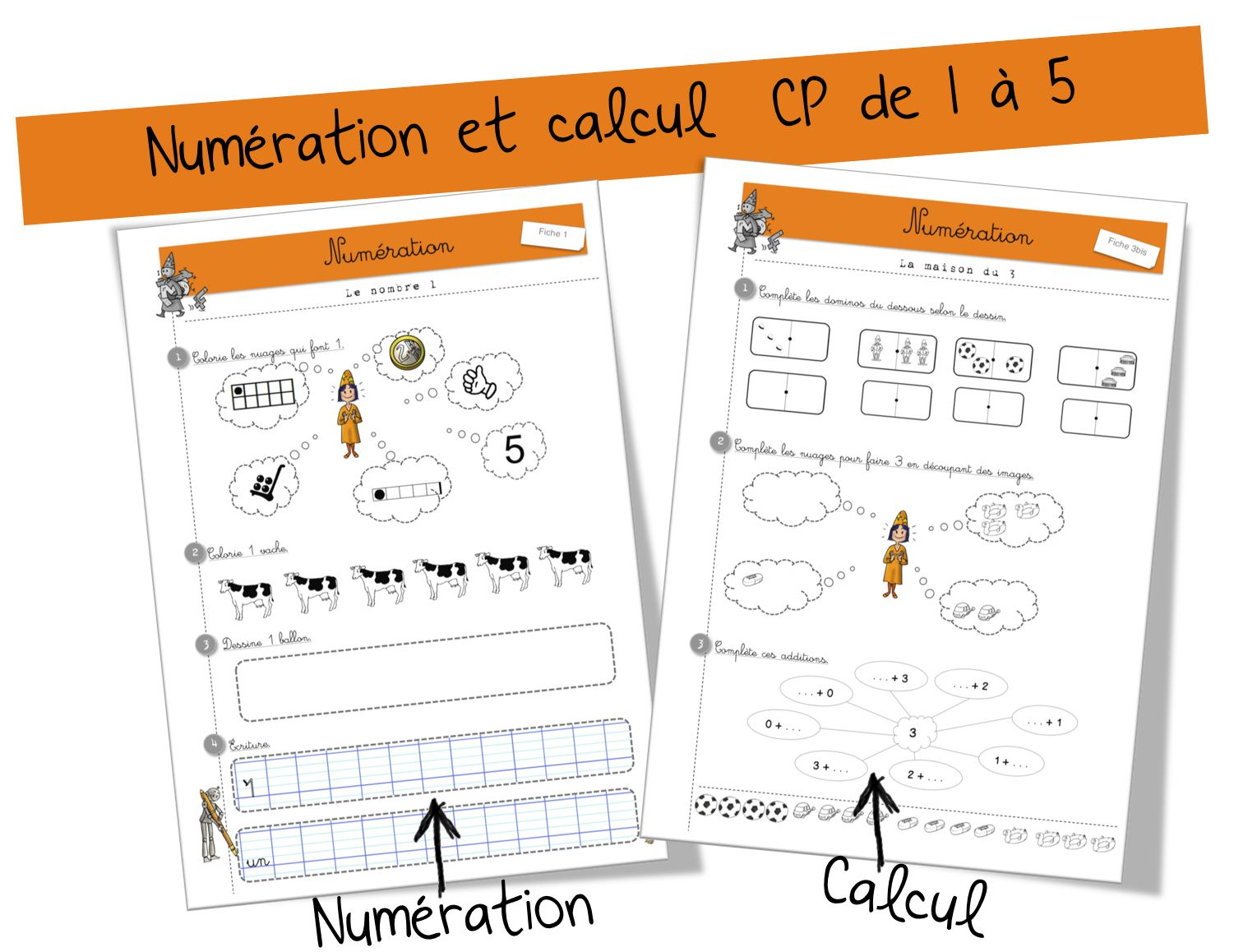 1 2 3 maths cp guide et fiches photocopiees