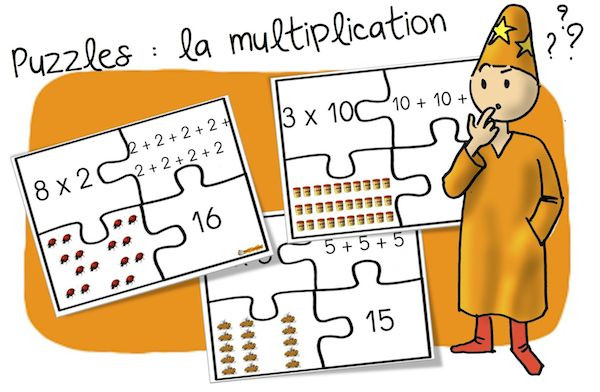 Jeu puzzles des multiplications additions r it r es - Jeu sur les tables de multiplication ...