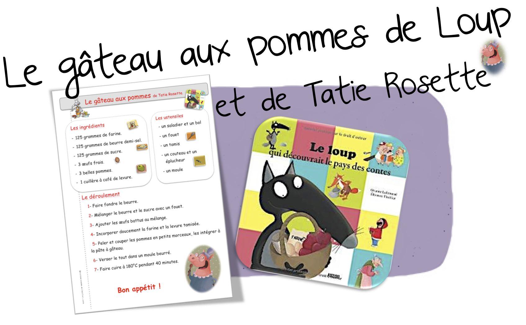 Coloriage Ingredients Gateau.Cuisine Le Gateau Aux Pommes De Loup Et Tatie Rosette Bout De Gomme